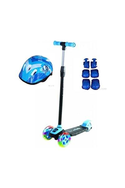 Cool Wheels Led Işıklı 3 Tekerlekli Twist Çocuk Scooter Full Set Mavi