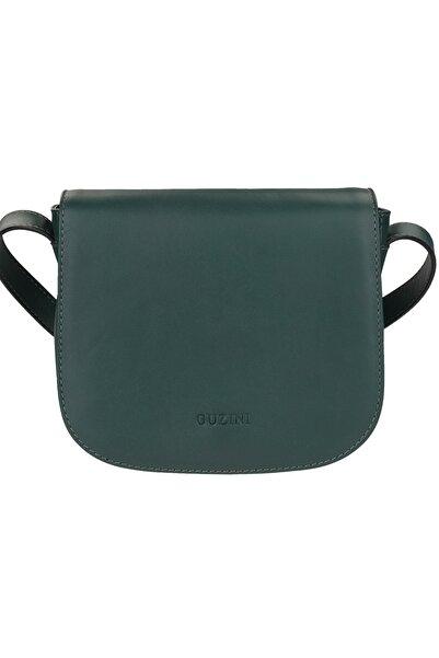 Guzini Kadın Koyu Yeşil Deri Çanta