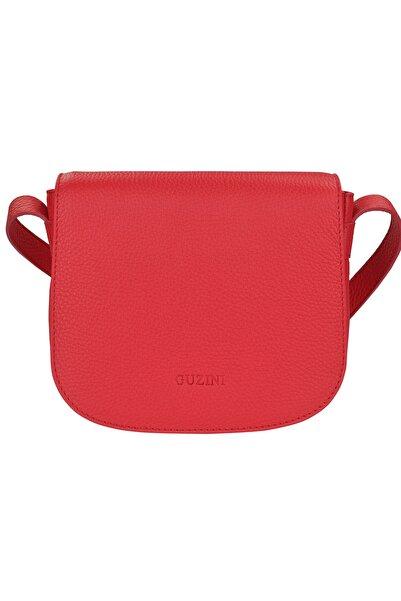 Guzini Kadın Kırmızı Deri Çanta