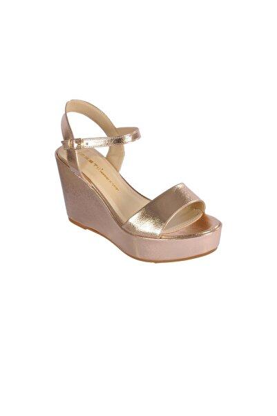 pabucmarketi Kadın Altın  Topuklu Ayakkabı