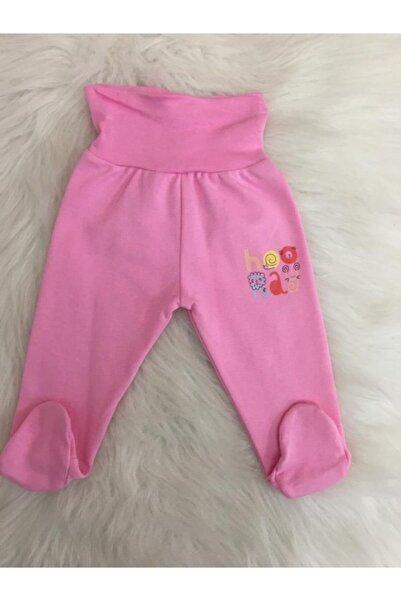 Aziz Bebe Kız Bebek Pembe Patikli Tek Alt Pantolon