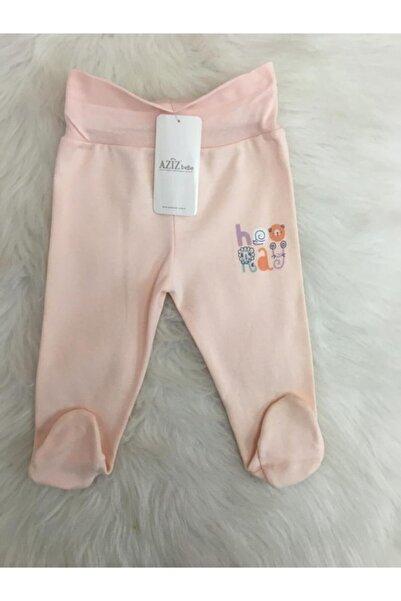 Aziz Bebe Kız Bebek Patikli Somon Tek Alt Pantolon