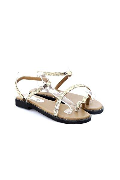 SEÇ KUNDURA Kadın Leopar Parmak Arasi Sandalet Dea 152