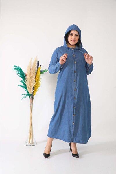 LBB Kadın Mavi Tesettür Kot Kap