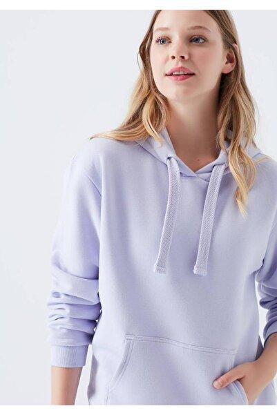 Mavi Kadın Lila Kapüşonlu Sweatshirt