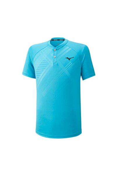MIZUNO Erkek Mavi Shadow Polo T-Shirt