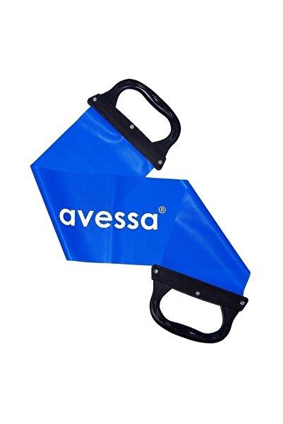 AVESSA Mavi Tutamaçlı Pilates Bandı Sert Direnç Lastiği