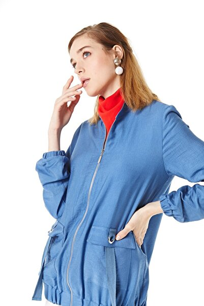 Nihan Kadın İndigo Ceket  B5075