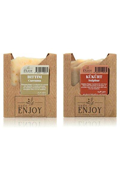 Enjoy Doğal Bıttım - Kükürt El Yapımı Yüz, Saç Ve Vücut Sabunu (ikili Paket)