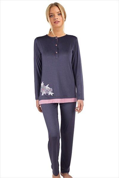 AYYILDIZ Kadın Antrasit Pijama Takımı 59523