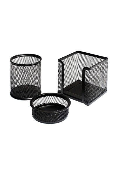 Bigpoint Lotte Metal Perfore 3`lü Set Siyah