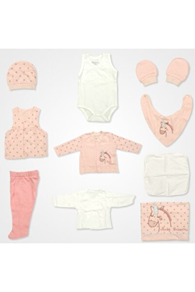Bebbek Kız Pembe Baby Unicorn Hastane Çıkış Seti 10'lu