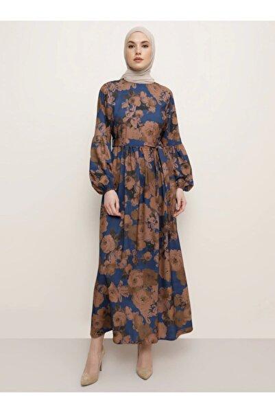 Tavin Kadın İndigo Desenli Elbise 1525121