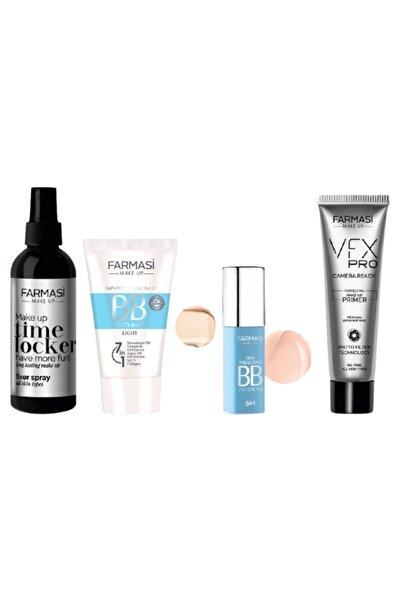 Farmasi Makyaj Sabitleyici & Bb Krem Açık 01 & Bb Göz Kremi Açıktan Ortaya 01 & Vfx Pro Makyaj Bazı