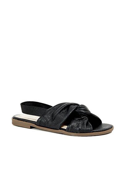 Desa Hakiki Deri Sıyah Kadın Sandalet 2010044641