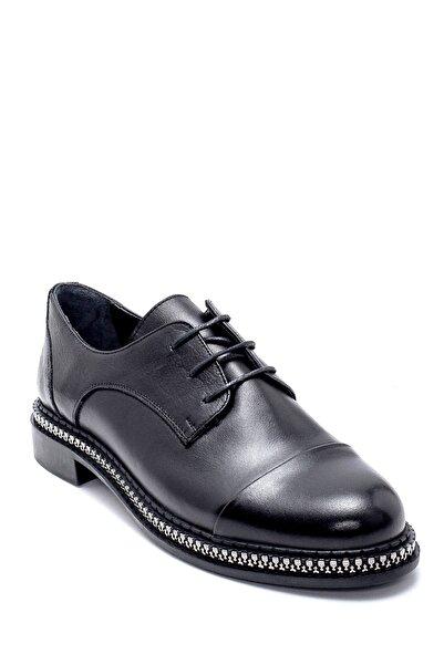 Derimod Kadın Siyah Deri Maskülen Ayakkabı