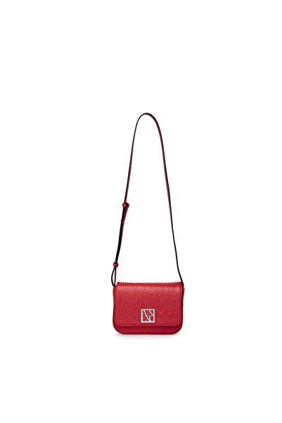 Armani Exchange Kadın Kırmızı Logo Baskılı Ayarlanabilir Omuz Askılı Çanta 942648 Cc793 00074