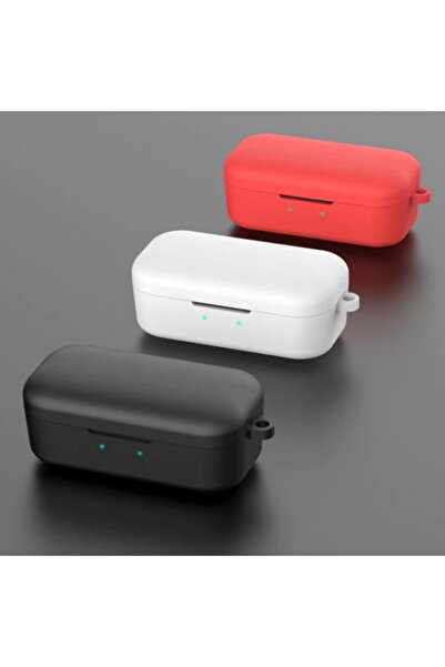 Ally Mobile Qcy T5 Bluetooth Kulaklık Için Silikon Koruma Kılıf+ Anahtarlık