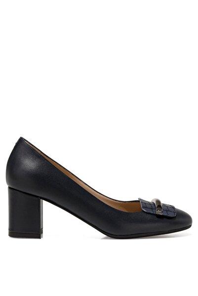İnci Kadın Lacivert Gova Ayakkabı Sera2