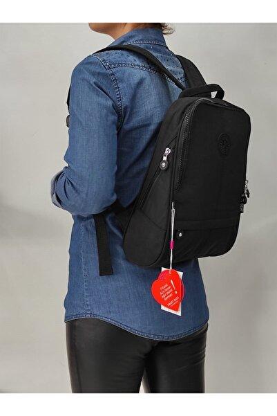 SMART BAGS Kadın Siyah Krinkıl Sırt Çantası