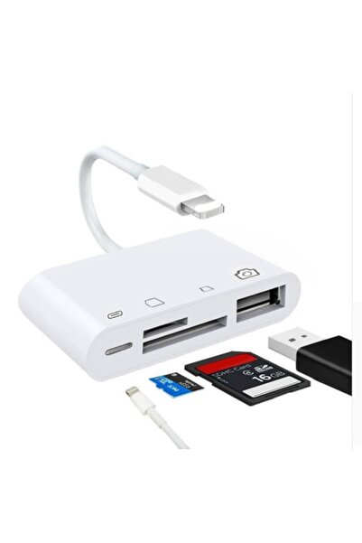 Ally Mobile 4in1 Iphone,ipad Lightning To Tf,sd Card Usb Kamera Adaptörü Nk108l