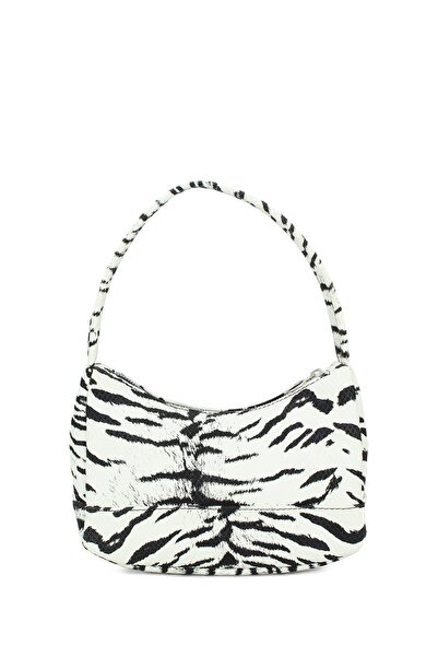 Housebags Zebra Desenli Baguette Çanta 197
