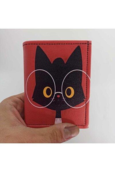 Makko Polo Gözlüklü Kedi Tasarımlı Kartlık