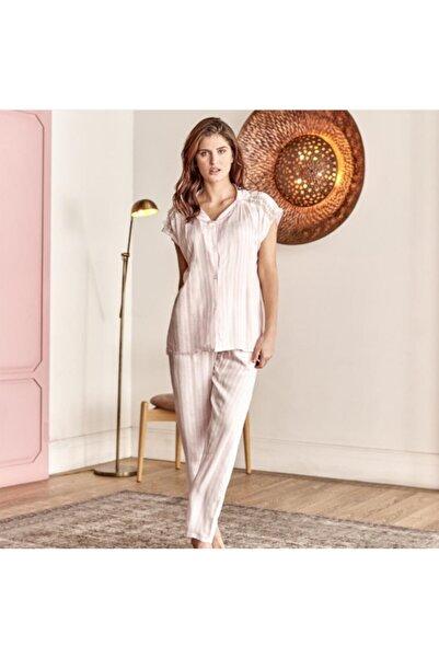 Anıl Kadın Beyaz Kısa Kol Pijama Takım
