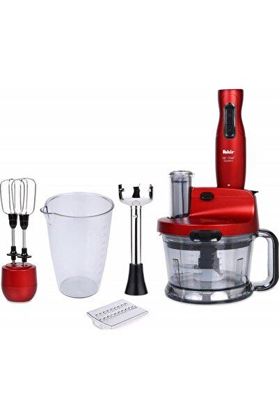 Fakir Kırmızı Mr Chef Quadro Blender Set