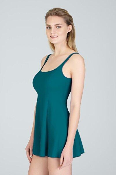 Kom Kadın Petrol Mavisi Elbise Mayo