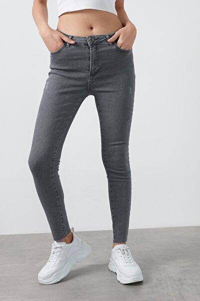 Fashion Friends Yüksek Bel Skinny Pamuklu Jeans Kadın Kot Pantolon 20k0321b1