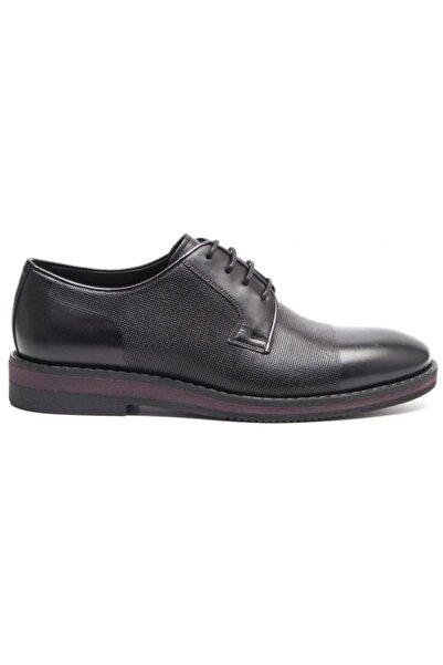 Greyder Erkek Siyah Deri Klasık Casual  Ayakkabı