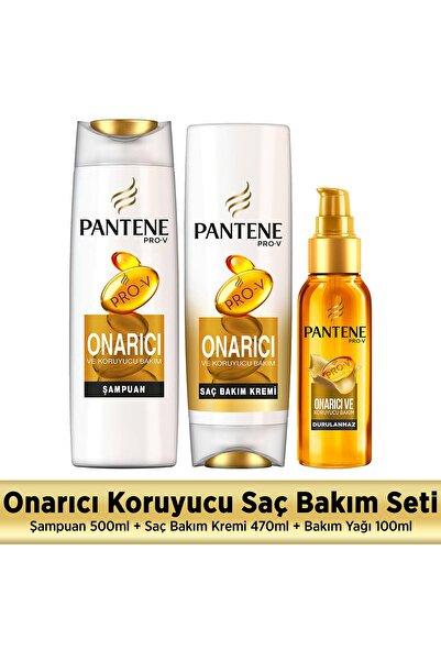 Pantene Onarıcı Ve Koruyucu Set (şampuan + Saç Kremi + Yağ)