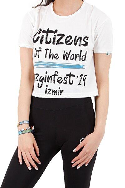 4EST Kadın Özel Tasarım Kısa T-Shirt