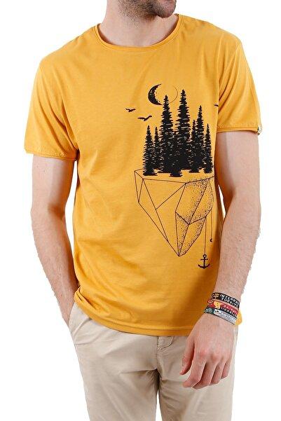4EST Unisex Sarı Yeryüzü Tasarım Tshirt