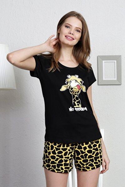 VİENETTA Pamuklu Sevimli Karakter Baskılı Mini Şortlu Pijama Takım