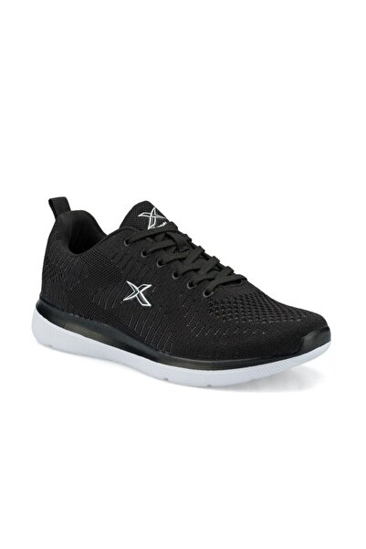 Kinetix Erkek Siyah Beyaz Bağcıklı Spor Ayakkabı