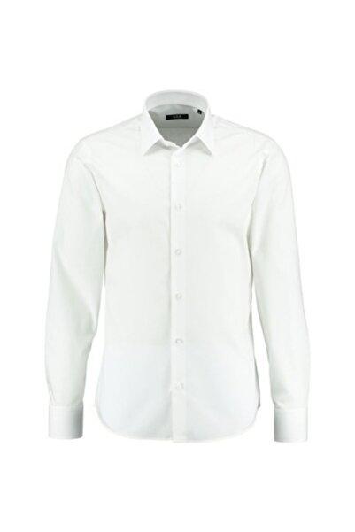 Sarar Erkek Beyaz Frank Uzun Kol Nev Slımeo Gömlek