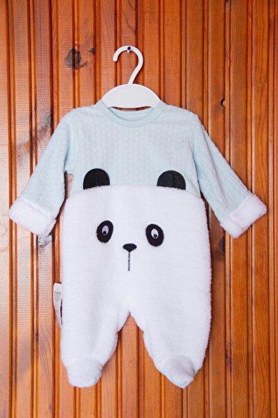 Dandini Panda Desenli Turkuaz Tulum