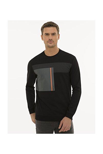 Pierre Cardin Erkek Siyah Standart Fit Sweatshirt G021SZ082.000.1235974