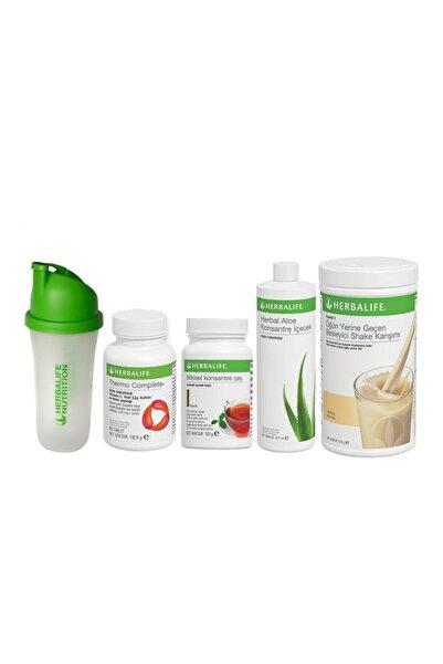 Herbalife Full Set-1 Vanilyalı Shake + 50gr Klasik Çay + Aloe Konsantre Içecek + Thermo Shaker