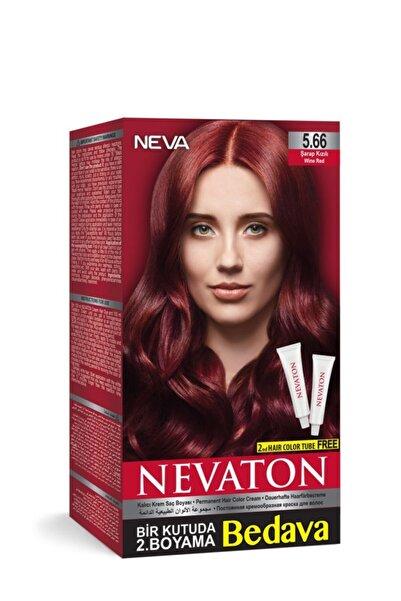 Neva Ton Kalıcı Krem Saç Boyası 5.66 Şarap Kızılı