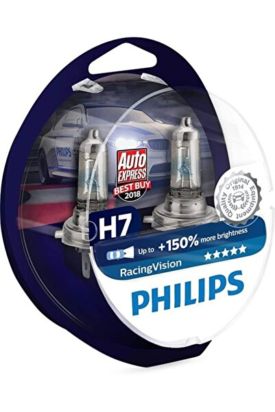 Philips H7 +150 Fazla Işık Racing Vision X-treme 12v