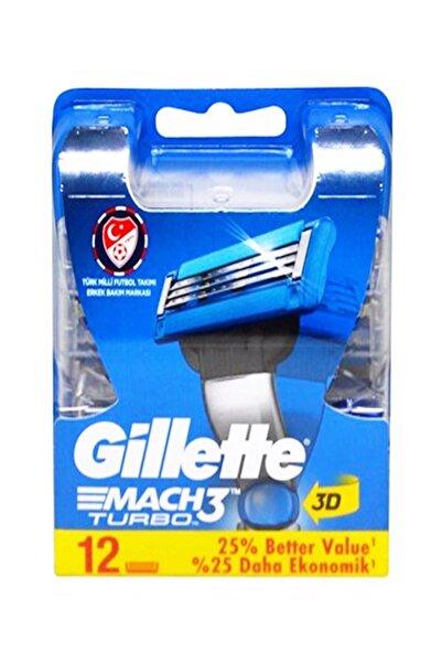 Gillette Mach3 Turbo Yedek Tıraş Bıçağı 12 Li