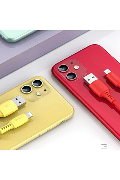 Baseus Colourful Iphone 7-8 X Xr Xs Usb Şarj Kablosu 2.4a 1.2m