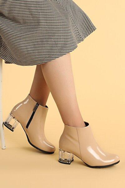 Ayakland 520 Rugan 6 Cm Topuk Termo Taban Kadın Bot Ayakkabı