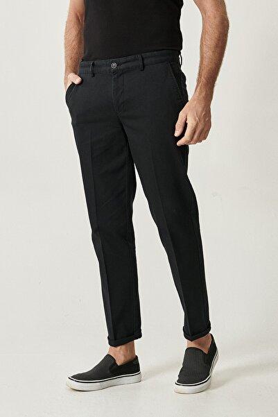 ALTINYILDIZ CLASSICS Erkek Siyah Slim Fit Desenli Pantolon