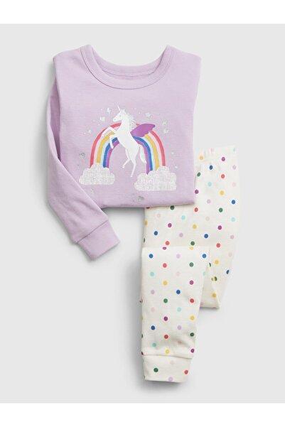 GAP Kız Çocuk Mor Unicorn Desenli Pijama Takımı