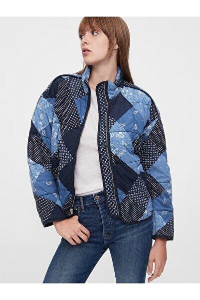 GAP Kadın Lacivert Patchwork Ceket