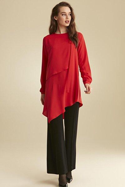 Tuğba Kadın Kırmızı Tunik Takım